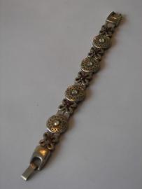 D308 Lila armband met bloem openbloem ornamenten met Swarovski stenen
