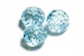 39320 Kristallen rondel 9x12 mm aquamarine