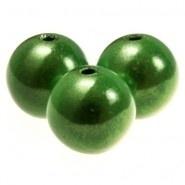 96013 Acryl kraal 3D kunststof groen  10 mm