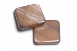 90204 Parelmoer plat l bruin 12 mm