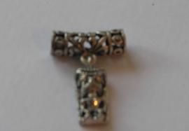 70010 Metalen bloemenhuls met Tippi (gelukspopje NZ) 20x6 mm