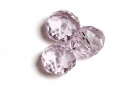 39308 Kristallen rondel 6x8 mm Roze