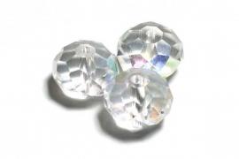39315Kristallen rondel 9x12 mm Crystal