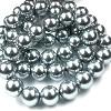 41020 Parel staal zilver grijs zilver grijs rond  8 mm