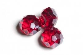 39303 Kristallen rondel rood