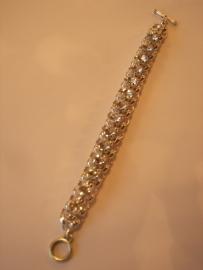 A1350 Jasseron armband incl 8 mm Swarovski stenen Chrystal