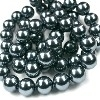 40021 Parel antraciet dark grey rond 6 mm