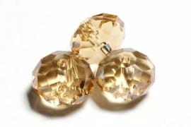 39318 Kristallen rondel 9x12 mm Golden Shadow topaz