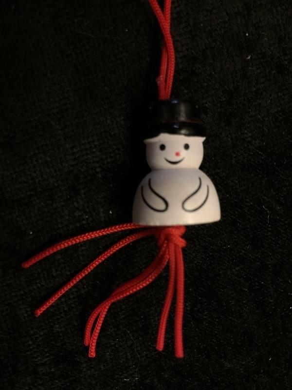 sleutelhanger sneeuwpop