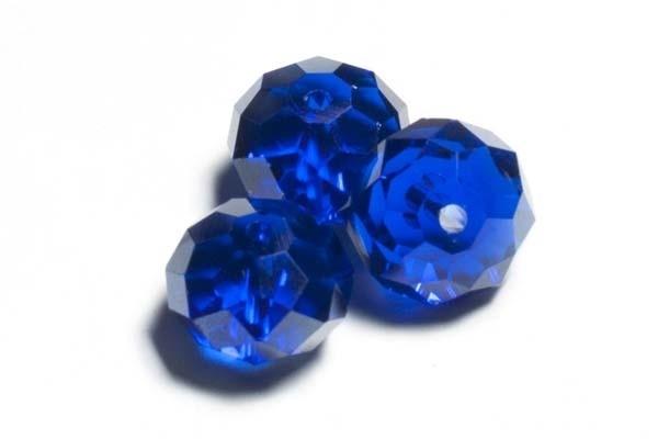 39321 Kristallen rondel 9x12 mm Saffier