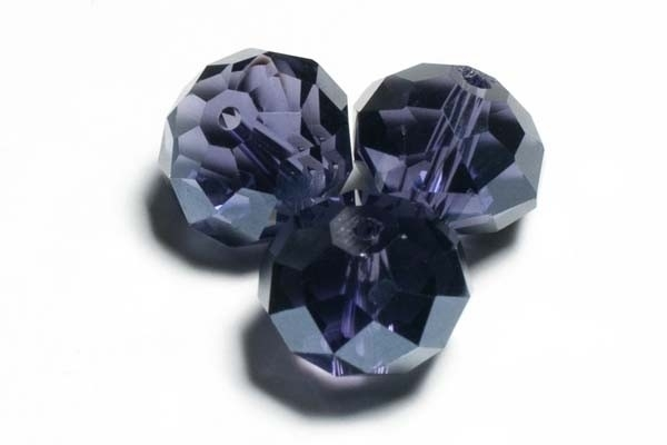 39304 Kristallen rondel 6x8 mm Tanzanite