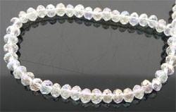 39307 Kristallen rondel 6x8 mm chrystal AB
