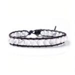 2012551 Lu Lu armband enkel met Witte half edelstenen