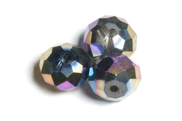 39302 Kristallen rondel 6x8 mm multicolor