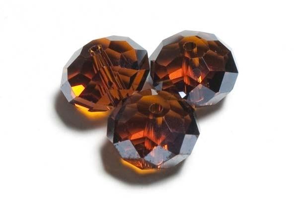 39303 Kristallen rondel smoked topaz