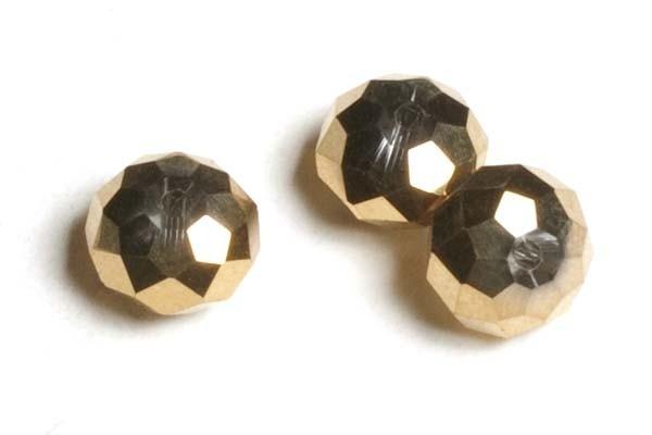 39301 Kristallen rondel 6x8 mm goud