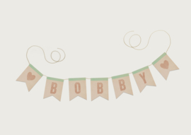 NAAMSLINGER OF GEBOORTESLINGER WATERCOLOR MEISJE 'BOBBY' (PRIJS PER LETTER)
