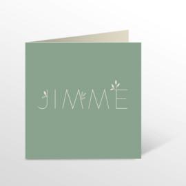 GEBOORTEKAARTJE BOTANISCH STRAK JONGEN 'JIMME'