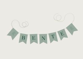 NAAMSLINGER OF GEBOORTESLINGER TAKJE 'BENTE' (PRIJS PER LETTER)