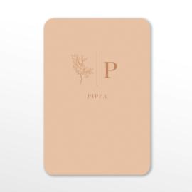 GEBOORTEKAARTJE MINIMALISTISCH 'PIPPA'
