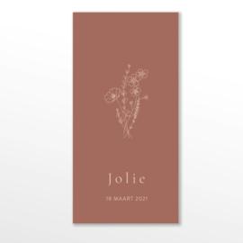 GEBOORTEKAARTJE VELDBLOEMEN BOEKET MEISJE 'JOLIE'