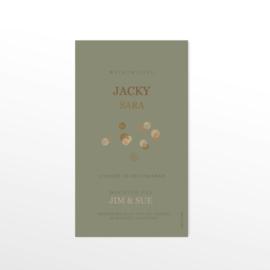 GEBOORTEKAARTJE MET HOUT EN CONFETTI MEISJE 'JACKY'