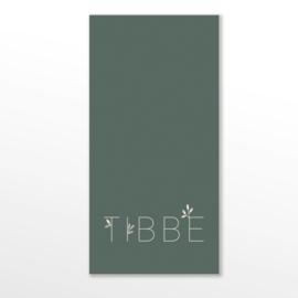 GEBOORTEKAARTJE STRAK BOTANISCH JONGEN 'TIBBE'