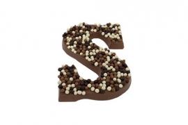 Praline letter (alleen melkchocolade )