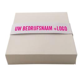 9 logobonbons in doosje (vanaf EUR 8,00 excl btw per doosje)