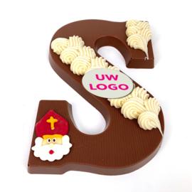 Chocoladeletter Luxe met LOGO (vanaf 50 st) A-Z. Vanaf EUR 5,40 excl. btw.