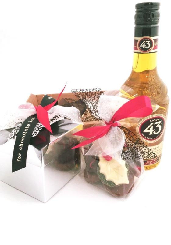 Geschenkmand  bonbons Licor 43