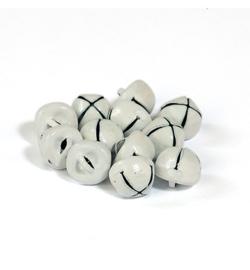 Kerstbelletjes wit  10mm - 12 stuks