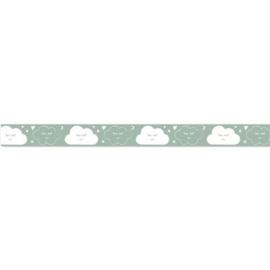 Lint met wolken Groen 15 mm