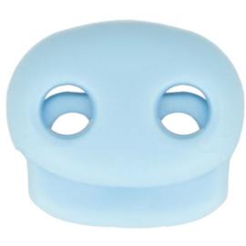 Koordstopper tweegaats ±22x20mm 261 Licht Blauw