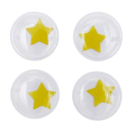 Rico fantasie wiebelogen met geel sterretje - 35mm 4 ogen
