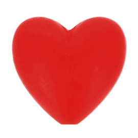 Opry siliconen kralen hartjes 5 stuks kleur 722
