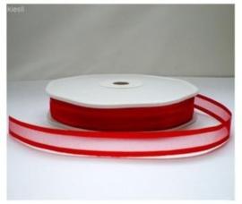 Lint organza Rood 10mm
