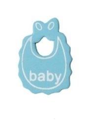 Houten babyslabbertje blauw