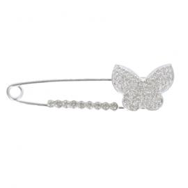 Kiltspeld strass diamanten vlinder zilver