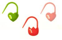 Tulip steekmarkeerders heart / hartjes assortie kleurtjes