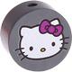 Houten kraal rond ''Hello Kitty'' antraciet ''babyproof''