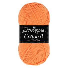 Cotton 8 Scheepjes 639 Zacht Oranje