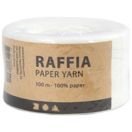 Papier Raffia garen - Wit - 7-8mm