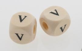 Letterkraal hout letter V