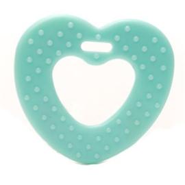 Durable Plastic bijtring Hart met noppen - 2 stuks -