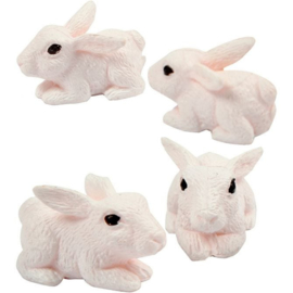 Miniatuur figuurtjes Konijntje (4stuks)