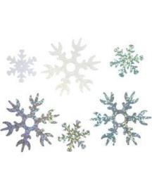 Pailletten Sneeuwsterren Lichtblauw-zilver-wit