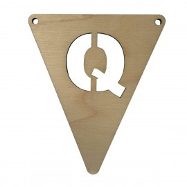 Houten vlagletter Q