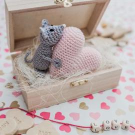 Durable agenda - Februari: Liefdes muisje
