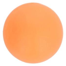Opry Siliconen kralen 5 stuks 15mm kleur 704 Zacht oranje